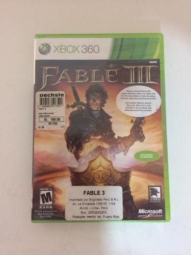 juego xbox 360 fable