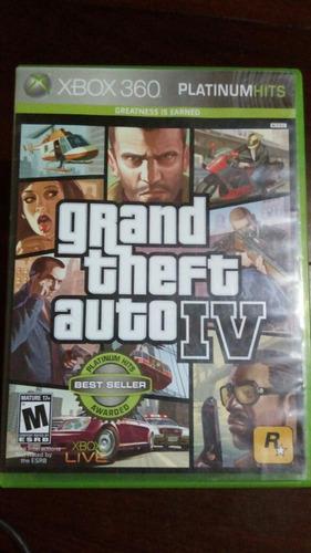 juego xbox 360 grand theft auto iv