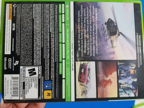 juego xbox 360 grand theft auto v original /perfecto estado