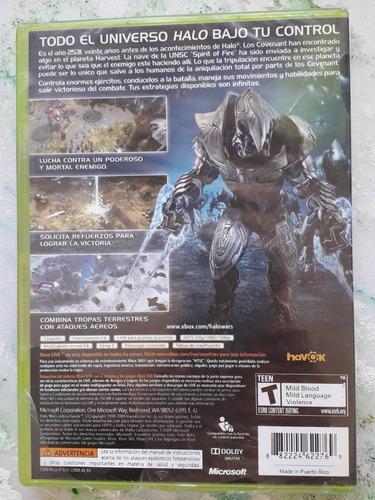 juego xbox 360 halo wars nuevo original
