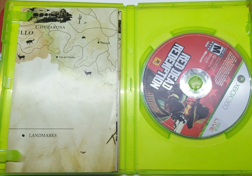 juego xbox 360 red dead redemption + mapa