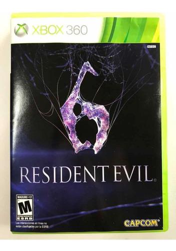 juego xbox 360, residente evil 6