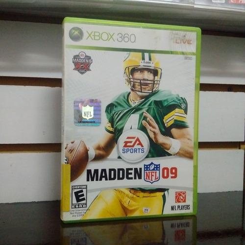 juego xbox 360 usado madden nfl 09 fisico cat 1