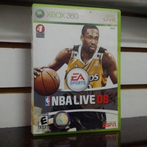 juego xbox 360 usado nba live 08 fisico cat1