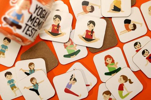 juego yoga para niños memotest
