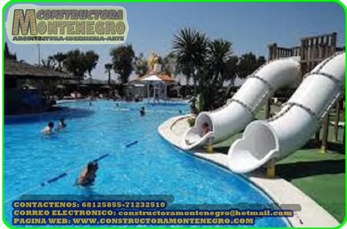 juegos acuaticos y construcción de piscinas