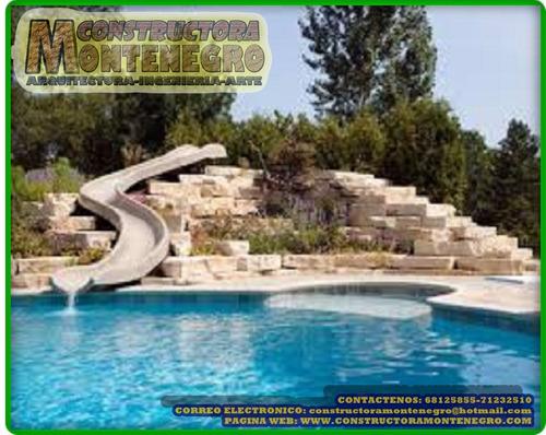 juegos acuàticos y construcción de balnearios