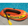 Bote Explorer 200 Intex Inflable Con Bomba Y Remos
