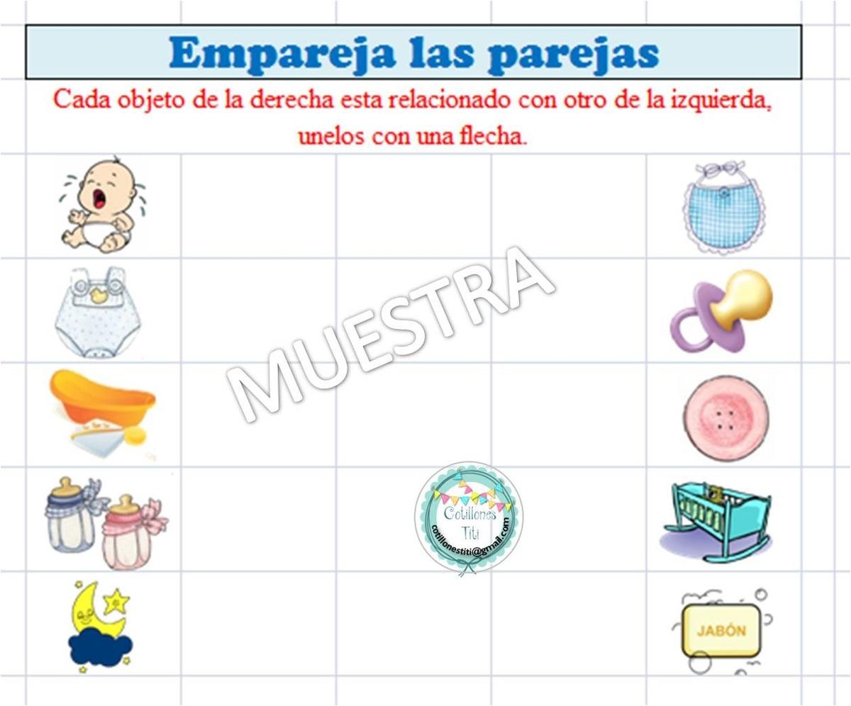 Juegos Baby Shower Para Imprimir Cotillon Bs 500 00 En Mercado Libre
