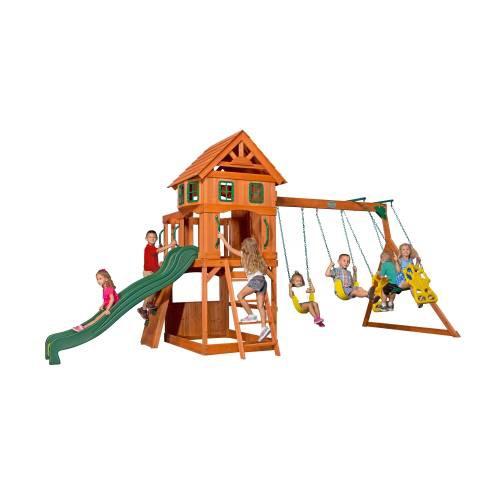 Juegos casa de madera con resbaladilla y columpios 17 en mercado libre - Columpios para casa ...
