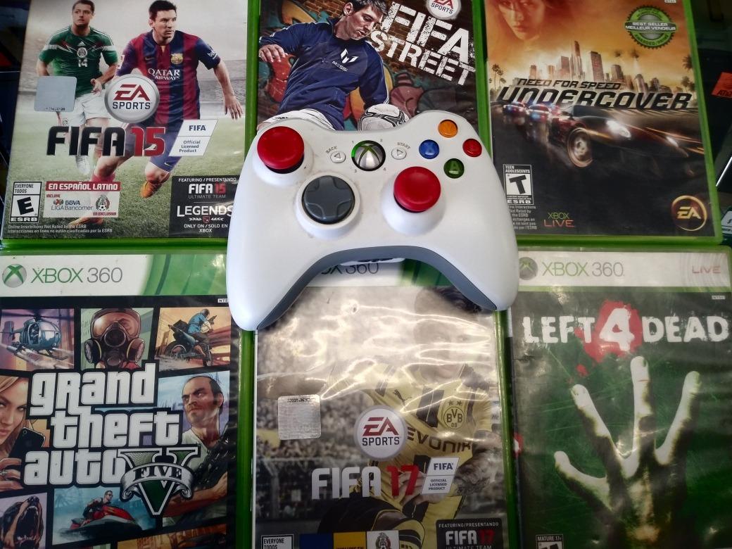 Lote De 6 Juegos Mas Control Para Xbox 360 Envio Gratis 1 800 00