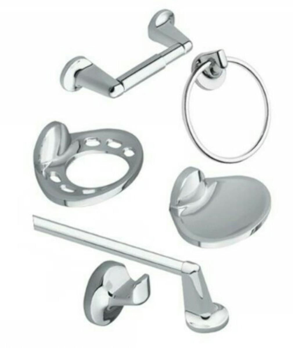 Juegos de accesorios para sala de ba os cromados 6 piezas for Juego accesorios bano
