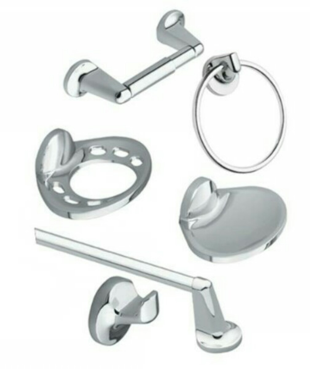 Juegos de accesorios para sala de ba os cromados 6 piezas - Accesorio de bano ...
