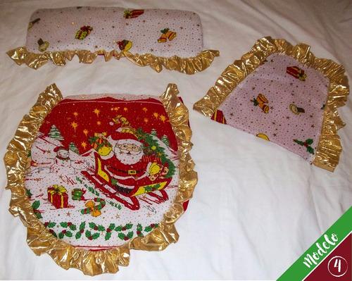juegos de baño lenceria navideña. de calidad bien acolchados
