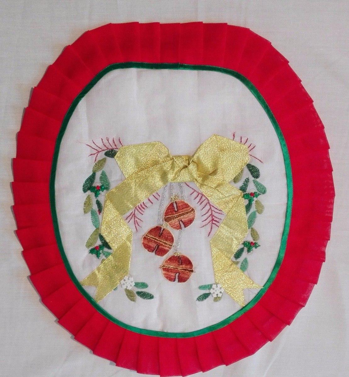 Juegos De Bano Navidad Hecho A Mano 3 Piezas 650 00 En Mercado