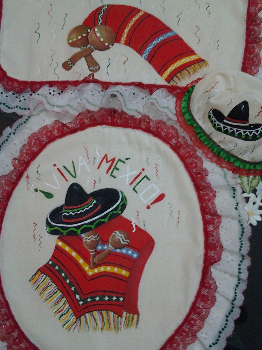 Juegos De Bano Pintados A Mano Fiestas Patrias 300 00 En