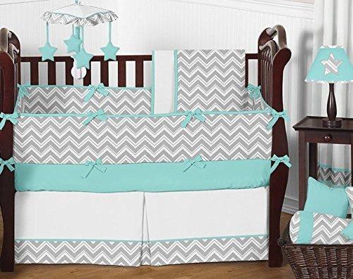 juegos de cama,dulce jojo designs gris y turquesa chevro..