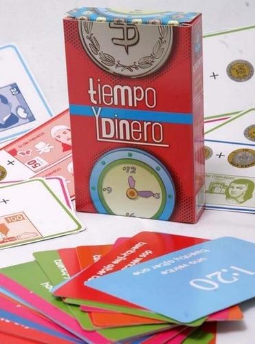 juegos de cartas educativo reloj tiempo y dinero