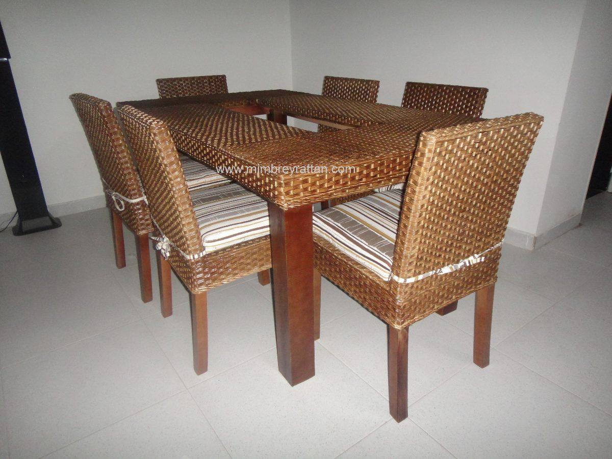 Sillas mimbre comedor silla de comedor de madera y ratn for Sillas mimbre comedor
