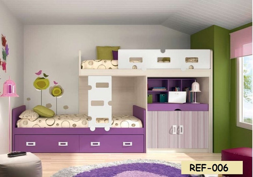 Juegos de dormitorios literas modulares bs 0 60 en mercado libre - Dormitorios infantiles literas ...