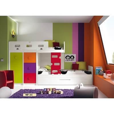 Juegos de dormitorios literas modulares bs en for Dormitorios modulares juveniles