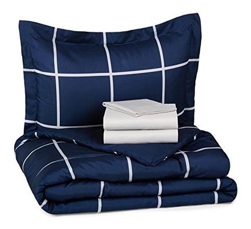 juegos de edredón,amazonbasics de 5 piezas bed-in-a-bag ..