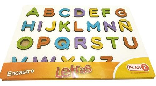 juegos de encastre abecedario en madera juguete didactico