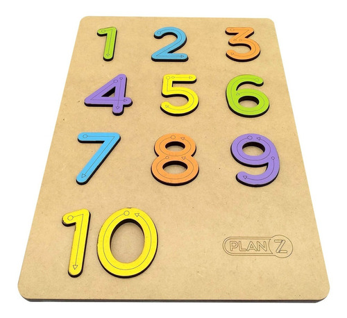 juegos de encastre numeros en madera juguete didactico