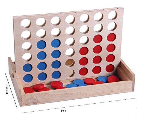 juegos de madera, juego de mesa de viaje línea plegable 4