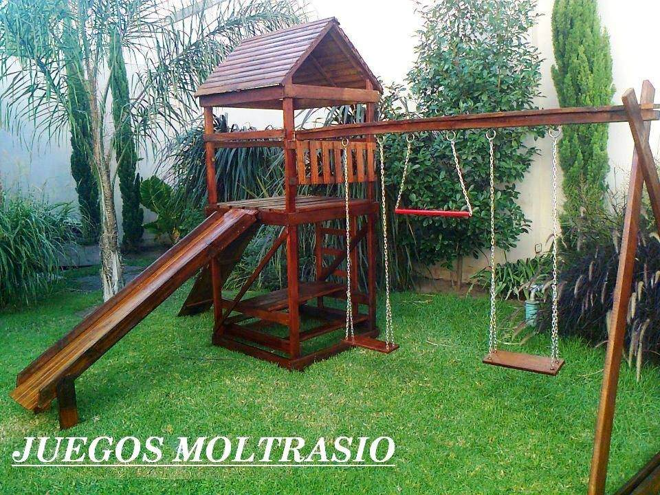 Juegos De Madera - Mangrullos C/ Hamacas Y Toboganes - - $ 31.900,00 ...