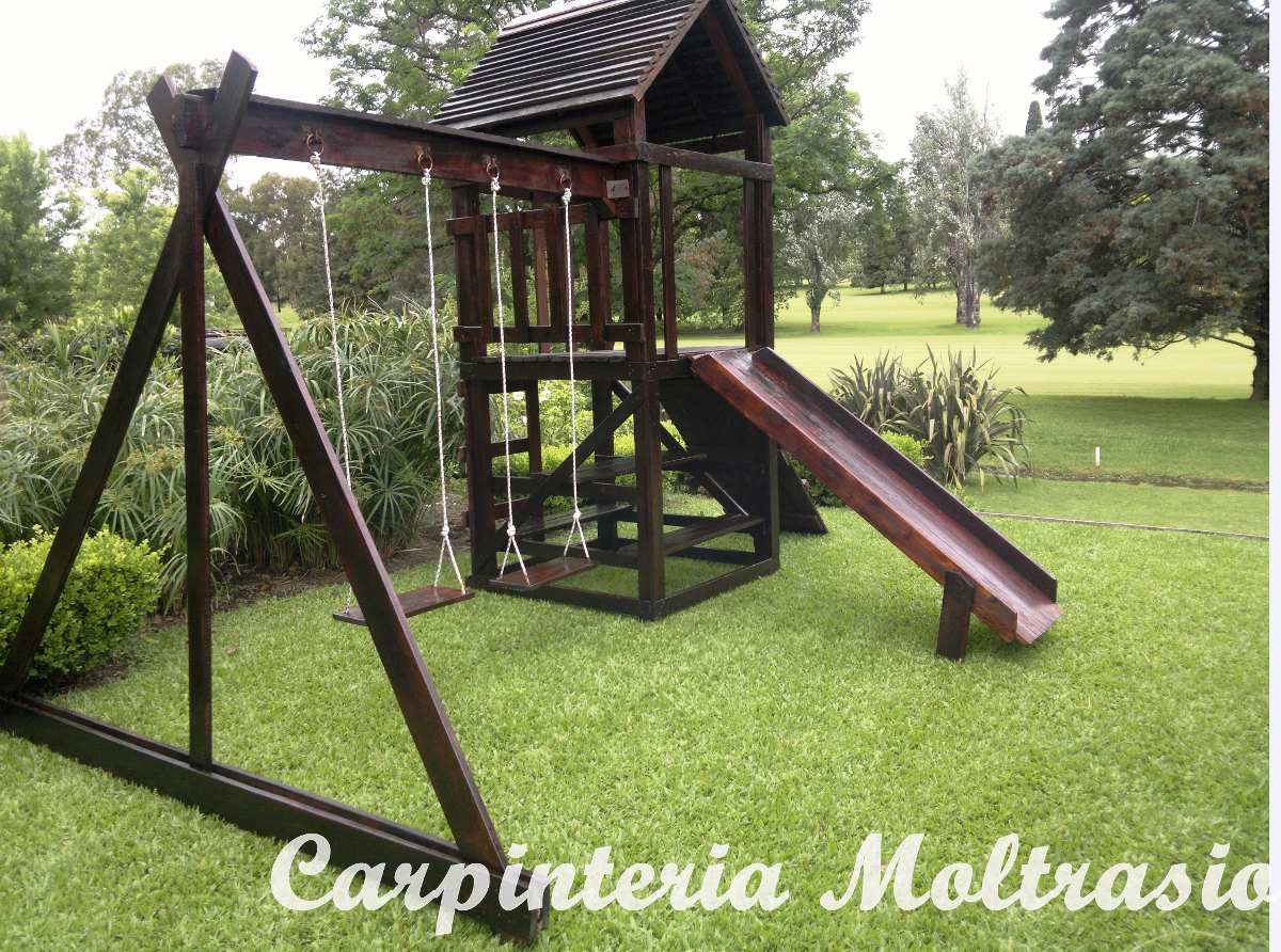 Juegos De Madera, Mangrullos Para Jardines. Varios Tamaños ...