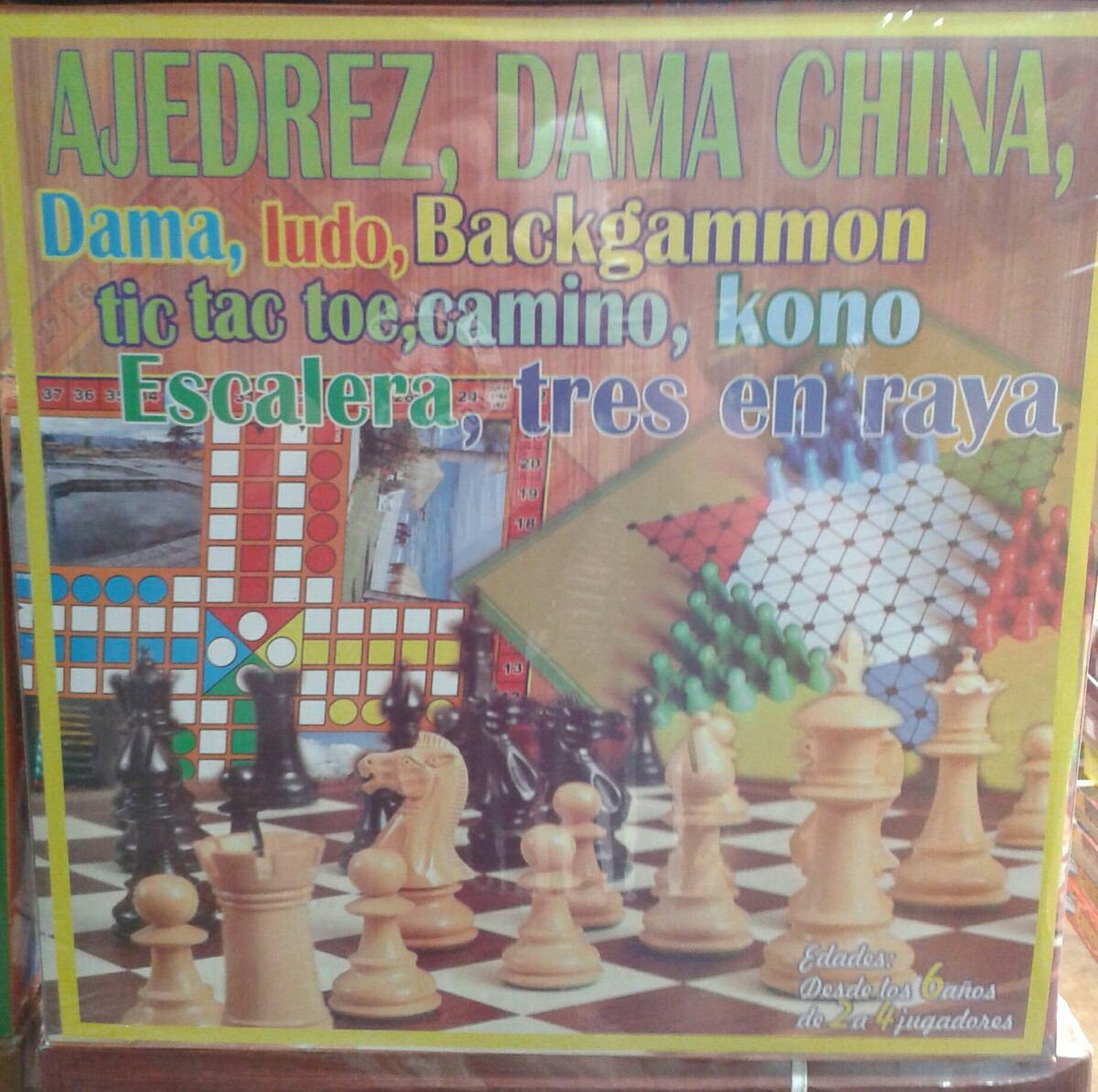 Juegos De Mesa 10 En 1 En Base De Madera S 60 00 En Mercado Libre
