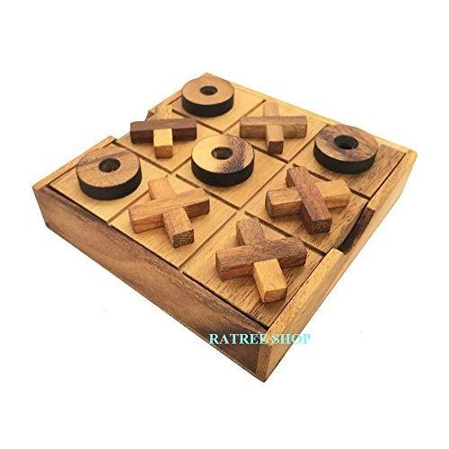 Juegos De Mesa De Madera Hechos A Mano Del Tic Tac Toe 22 990