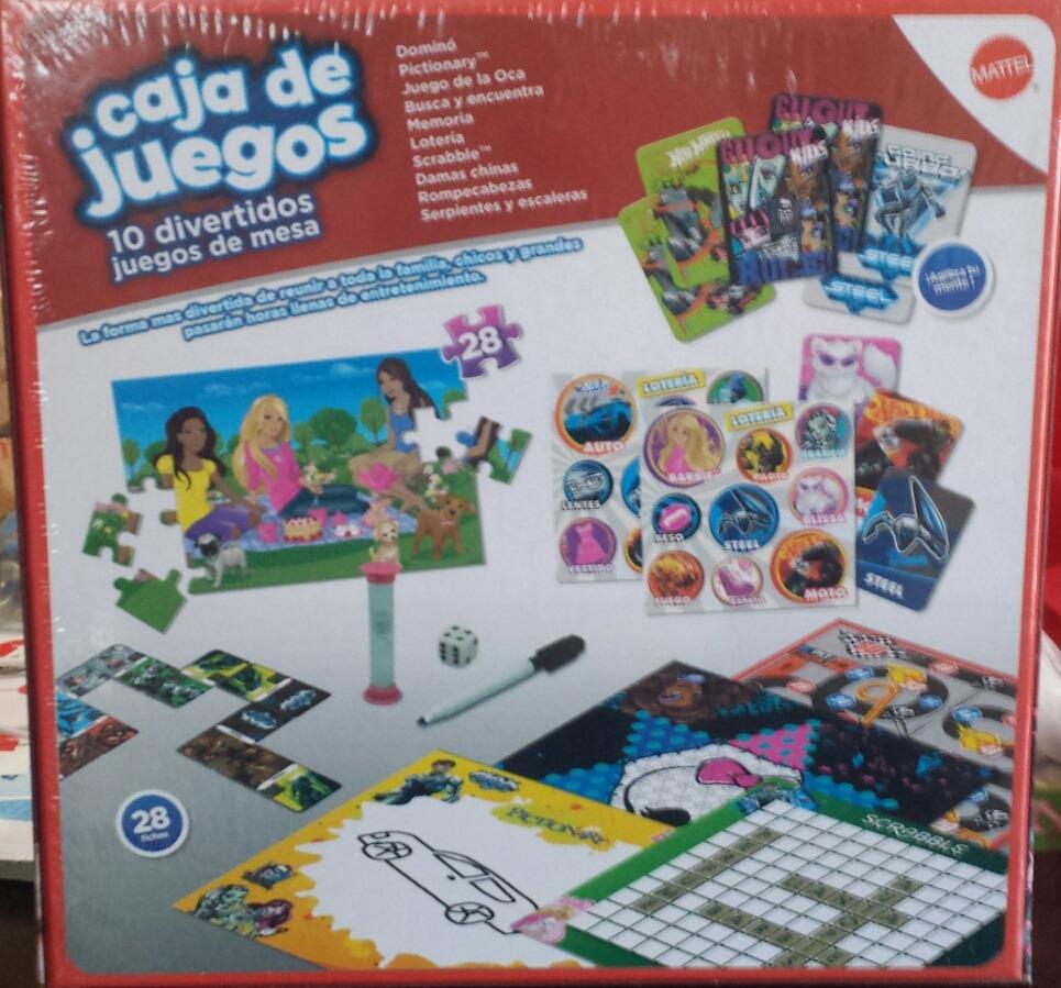 Juegos De Mesa Mattel Pictionay Scrabble 10 En 1 469 00 En