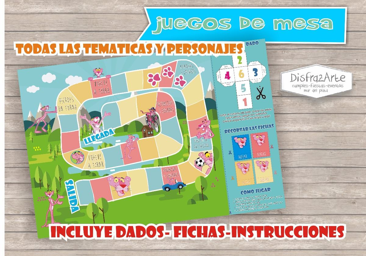Juegos De Mesa Pantera Rosa Personalizado Tablero X 10 Uds 390