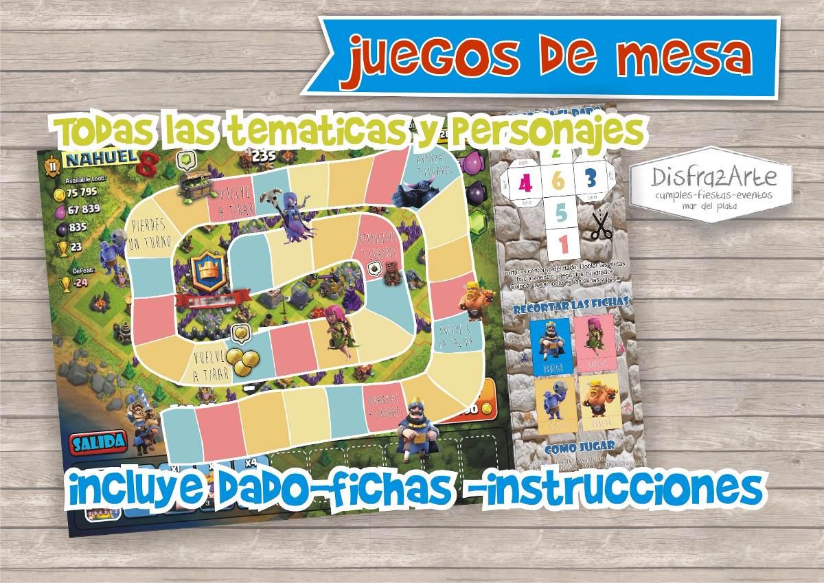 Juegos De Mesa Para Chicos Tablero Personalizado Imprimible 240