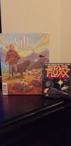 juegos de mesa silk y star fluxx (inglés)