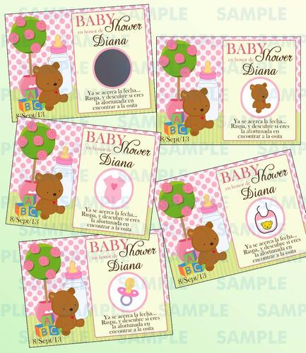juegos de raspadito ositas para baby shower-baby shower