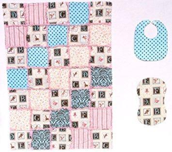 juegos de regalo las letras del abecedario con rosa y azu..