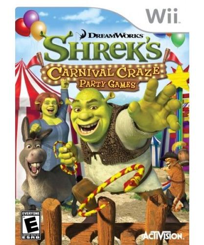 juegos de shrek's carnival craze party - nintendo wii
