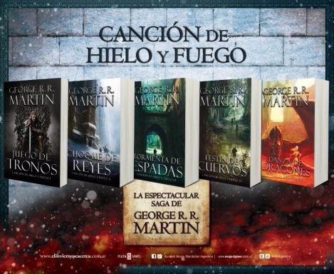 juegos de tronos (games of thrones) colección 5 libros