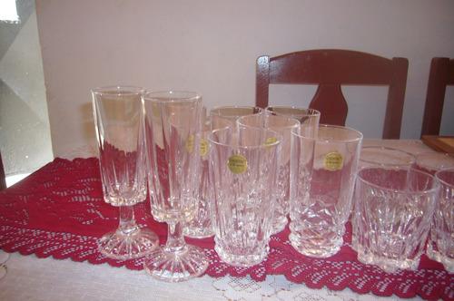 juegos de vasos cristal de arques original nuevos