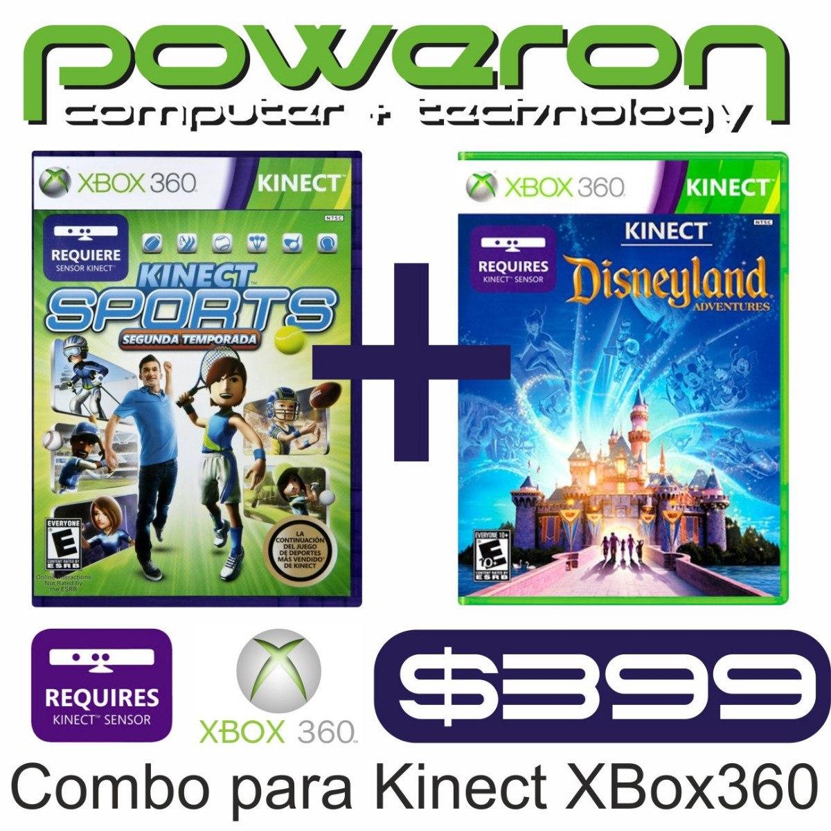 Juegos De Xbox 360 Original Kinect Combo Sports Disneyland 399