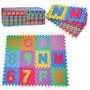 Alfombra Puzzle Goma Eva 31x31 Abecedario Completo Y Numeros