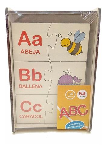 juegos didacticos madera abecedario alfabeto aprende a leer