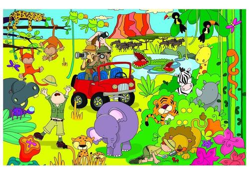 juegos didácticos rompecabezas 150 piezas safari