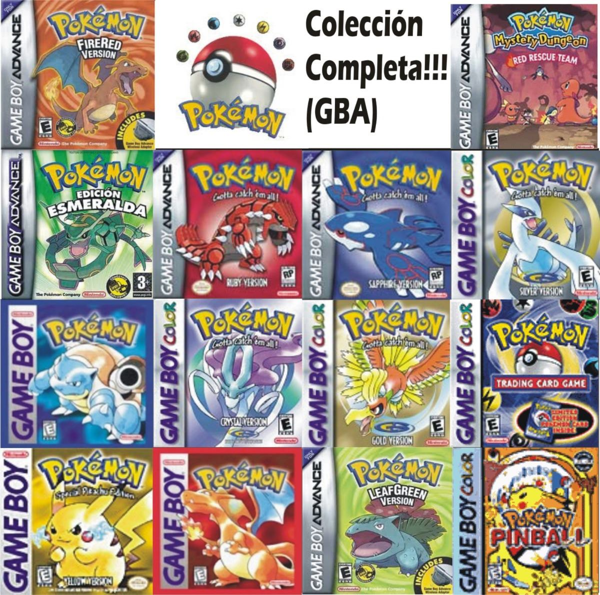 Juegos Digitales De Pokemon Para Gameboy Gb Gbc Gba Bs 0 80