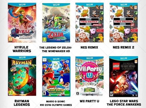 juegos digitales wii u pack mas de 130