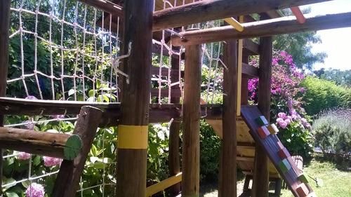 juegos en madera toboganes hamacas trepadores etc
