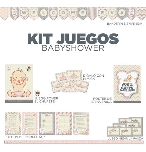 juegos imprimibles baby shower personalizados!